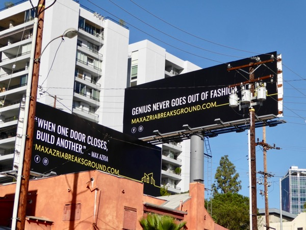 Max Azria Breaks ground online billboards
