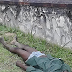 Man seen lying lifeless on the ground in Calabar...photo