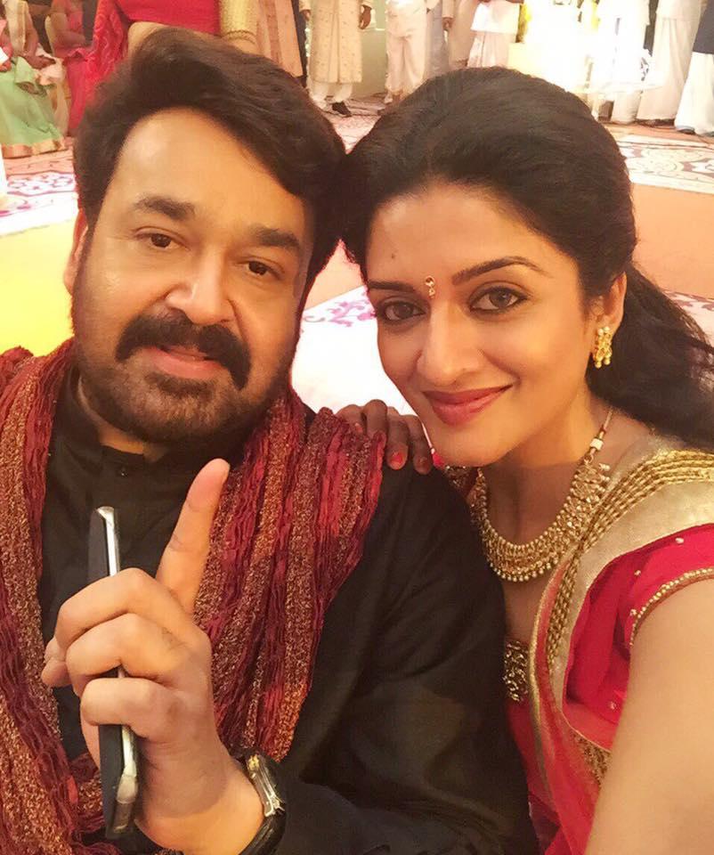 Actress Vimala Raman With Mohanlal New Movie Stills