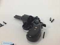 Mini revolver toy guns that work like real