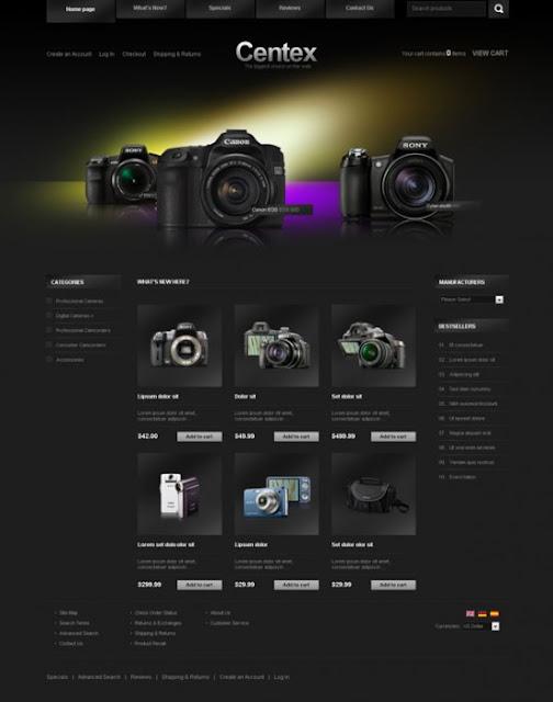 Mẫu website bán hàng đẹp bán camera