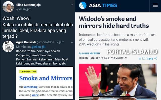 """Gegerkan Publik Tanah Air, Media Luar Negeri Tulis """"Pembohongan & Penipuan"""" Jokowi"""