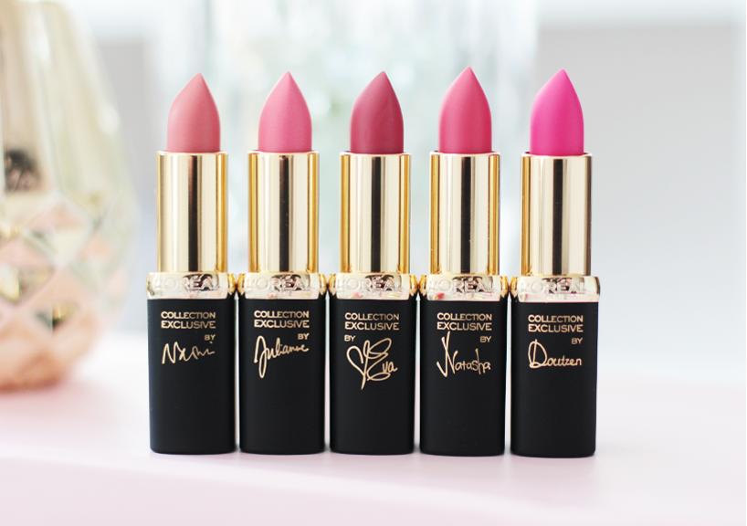 Loreal Paris La Vie En Rose Collection lipsticks review swatches