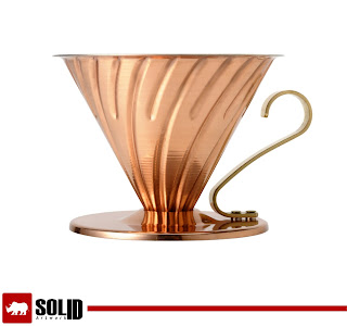 copper v60 coffee dripper