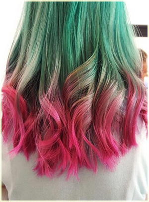 Two Tone Hair Color Dark on Top Light on Bottom | Hair Color Ideas ...