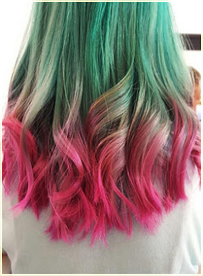Colorful Hair Extensions Two Tone Hair - Two Tone Hair Color Ideas For Long Hair