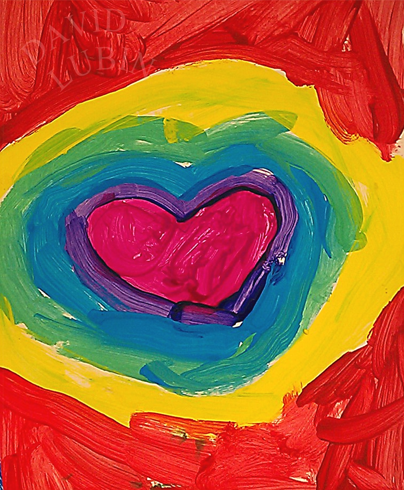 The David Lubin Art Studio Color Heart Color Wheel