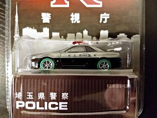 Green Machine GreenLight Tarmac Works patrol car Nissan GT-R R34