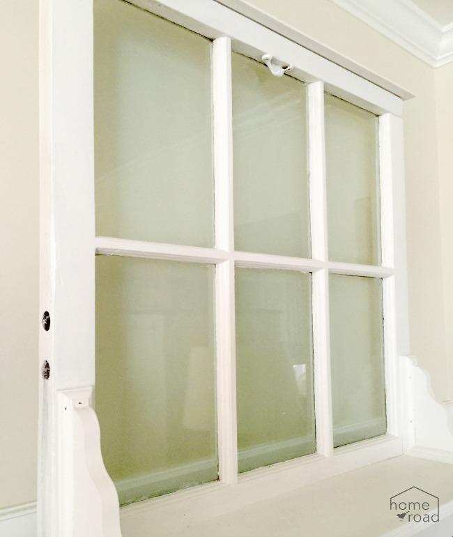 window and shelf painted white