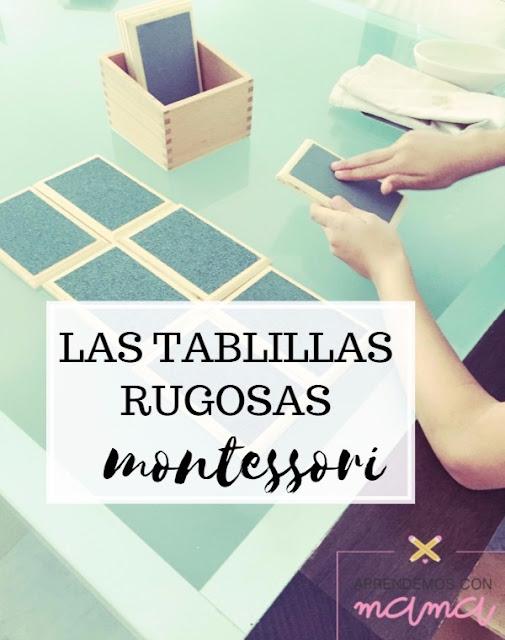Las tablillas rugosas montessori aprendemos con mam for Las tablillas