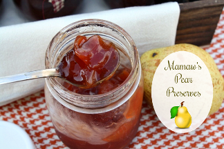 Old Fashioned Pear Preserves