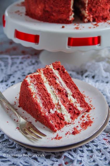 Red velvet cake - czerwony tort