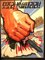 Nordkoreanisches Propaganda-Plakat