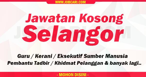 Jawatan Kosong Terbuka Selangor