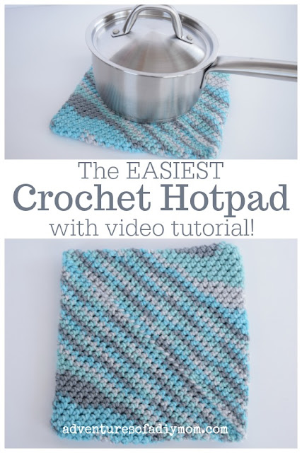 The Easiest Crochet Hot Pad with Video Tutorial