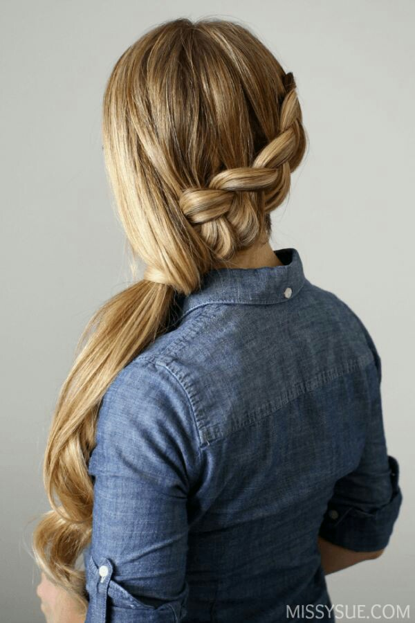 Quick French Twist Ponytail Tutorial