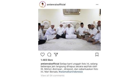 PA 212 Akan Laporkan Instagram ke Bareskrim karena Hapus Foto Amien