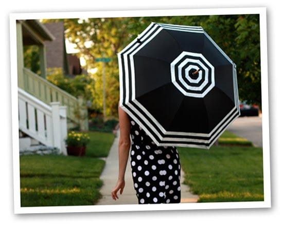 paraguas, customizar, tunear, pintar, bordar, accesorios, manualidades
