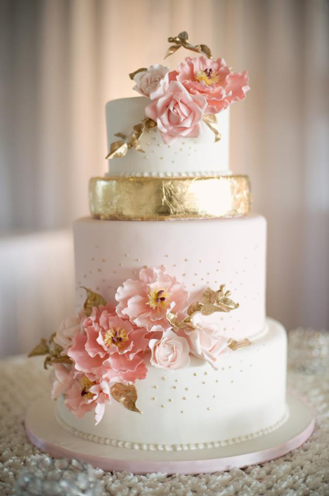 12 Gorgeous Metallic Wedding Cakes