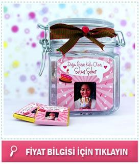 Bayanlara Özel Çikolatalı Doğum Günü Kavanozu