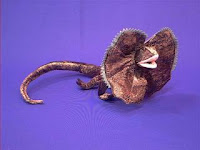 frilled lizard plush stuffed animal