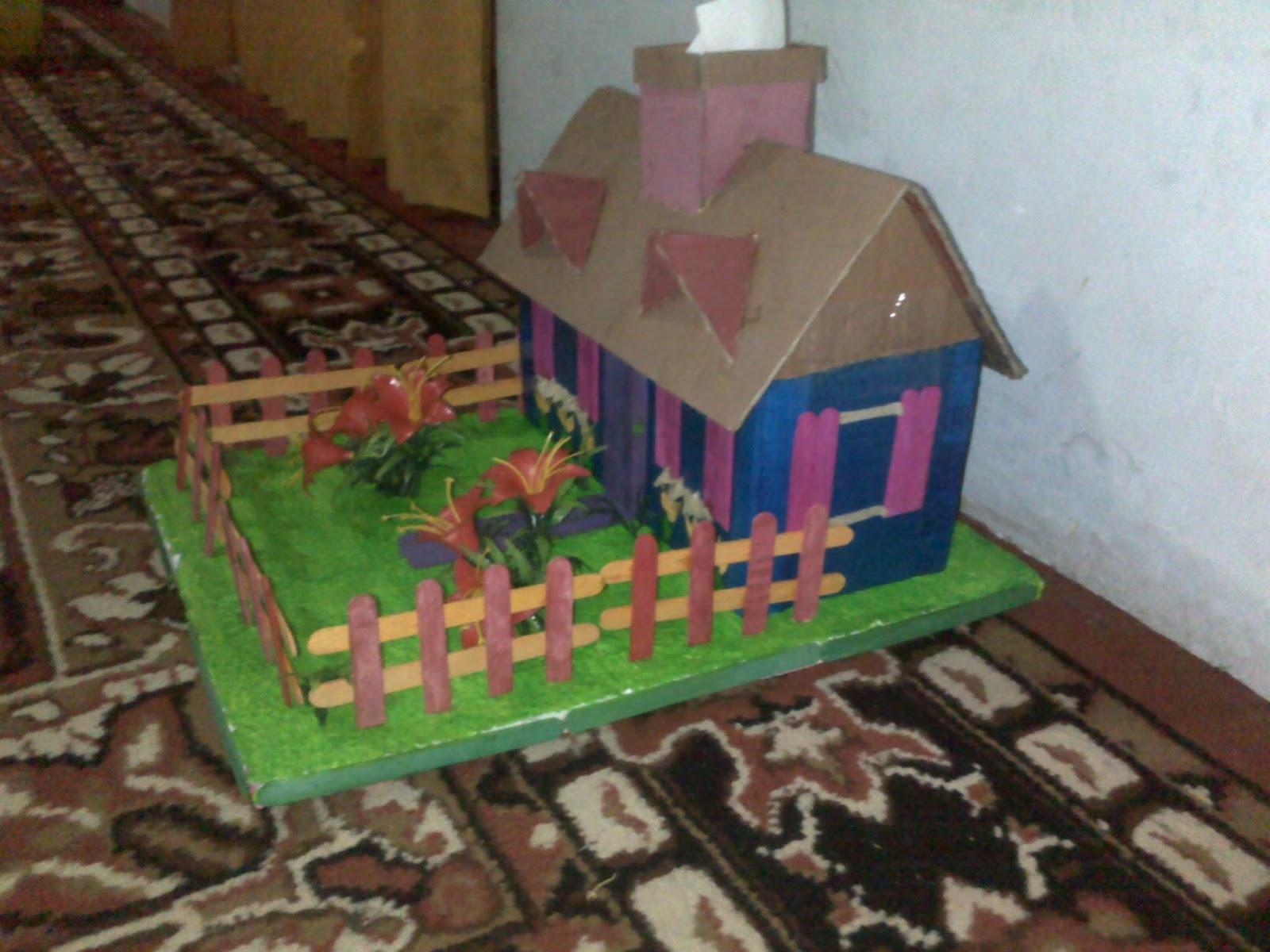 Kreasi Rumah Dari Kardus Bekas