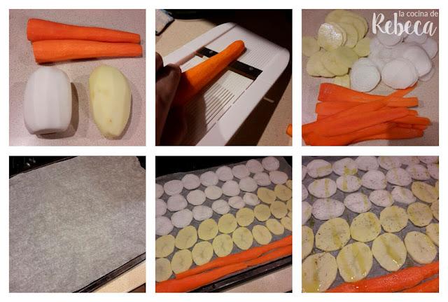 Receta para hacer chips vegetales: cómo cortar las verduras