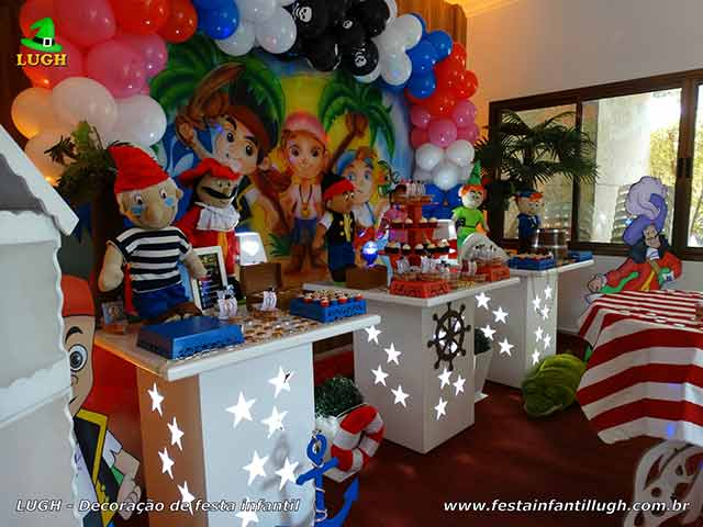 Decoração infantil Jake e os Piratas - decoração de aniversário