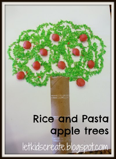 Let Kids Create Apple Trees Using Rice And Pasta