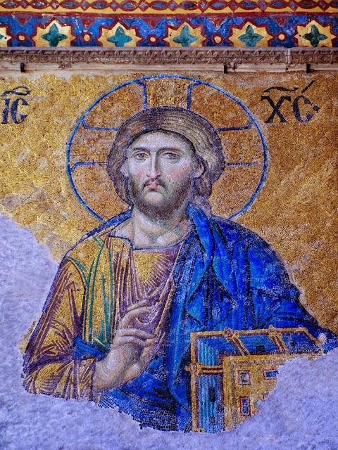 Santa Sofía, Cristo, mosaico de la Déesis