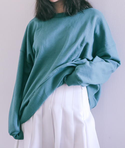 Dropped Shoulder Long Sleeve Pullover