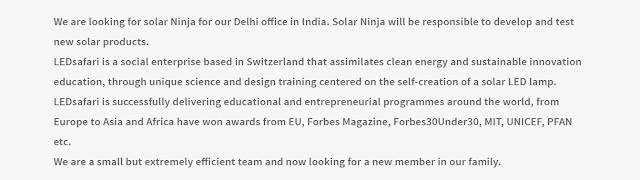 متدرب مهتم في مجال الطاقة الشمسية - Solar Energy
