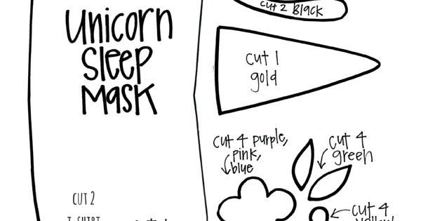 Diy Unicorn Sleep Mask