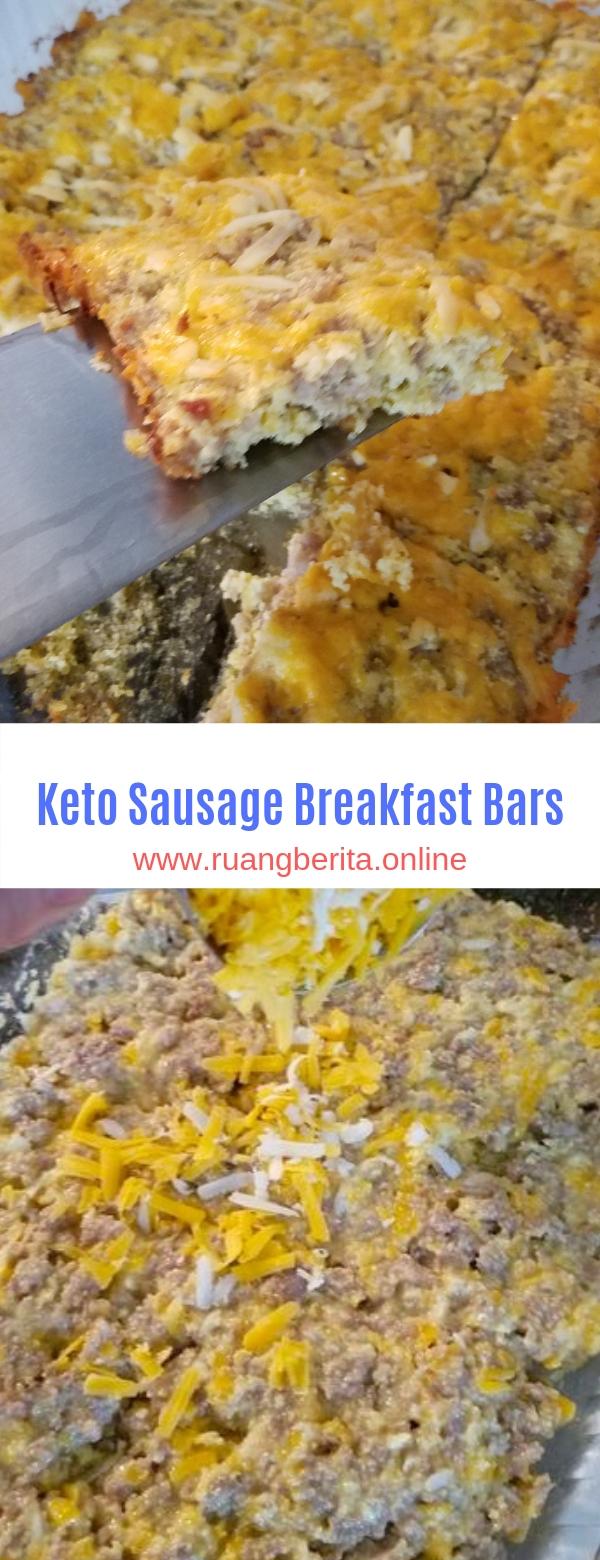 Keto Sausage Breakfast Bars
