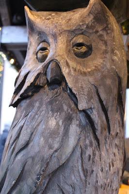 hibou sculpture bois