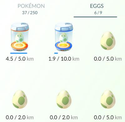 Menetaskan telur Egss Pokemon GO