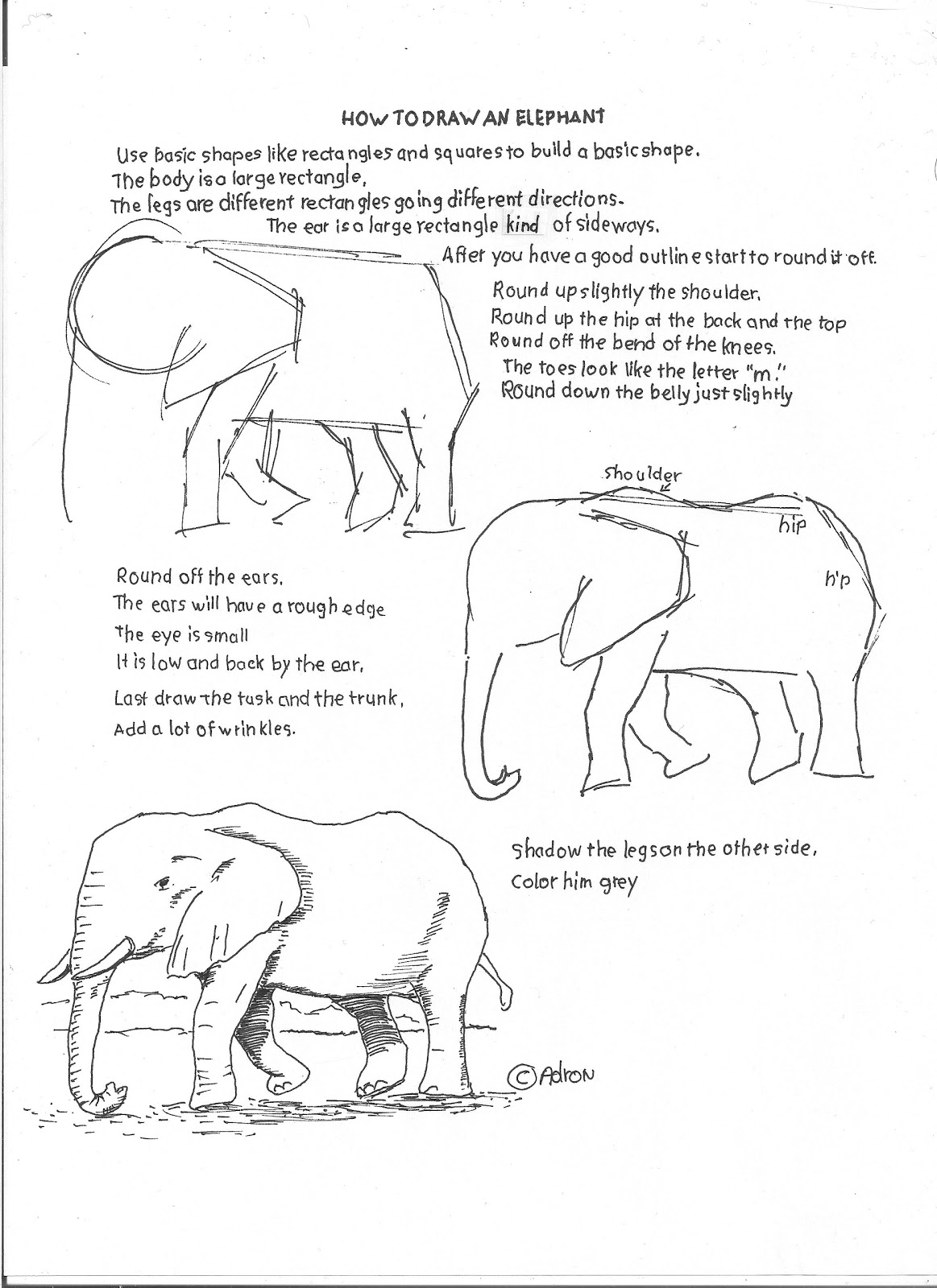 How To Draw Worksheets For The Young Artist How To Draw