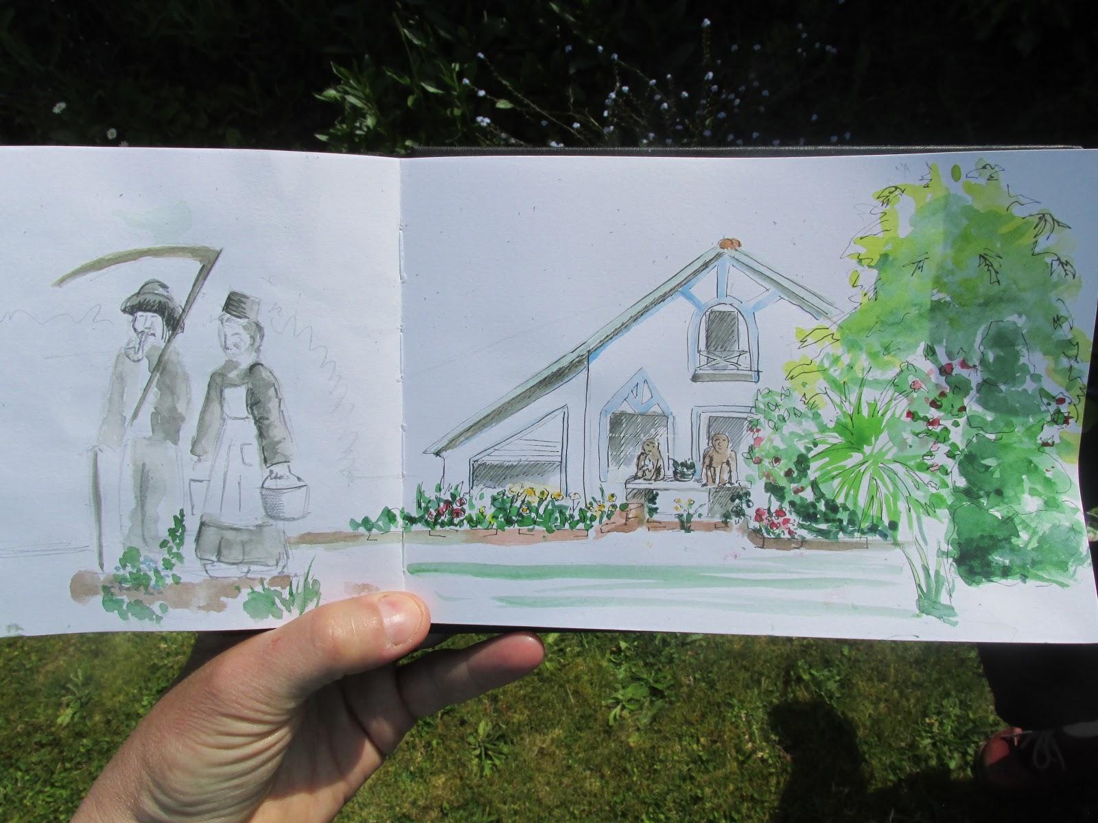Les croqueurs quimperlois le jardin fantastique d 39 andr for Jardin fantastique