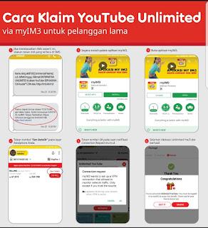 Inilah Cara klaim youtube unlimited im3