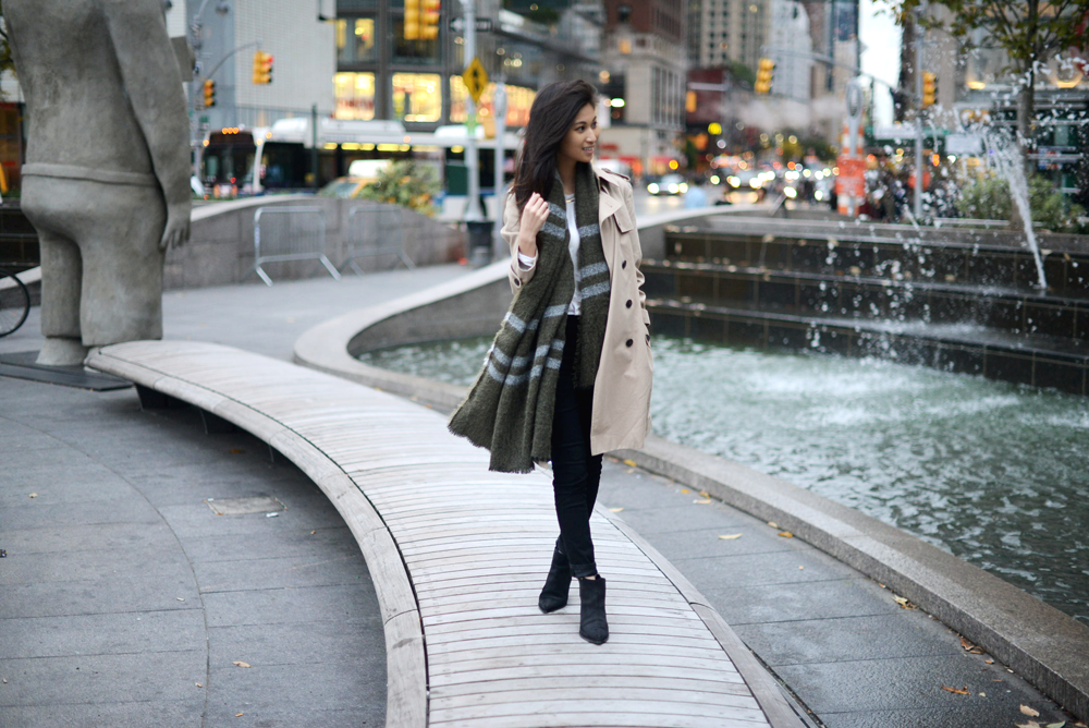 Oversized Scarf and Trench with Acne Studios Jensen Boots / FOREVERVANNY.com