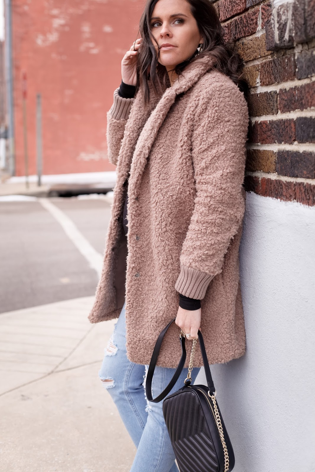 Styling the teddy coat.
