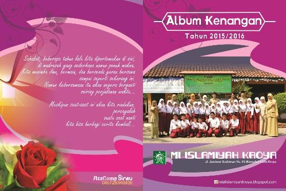 Desain Cover Album Kenangan Sekolah /  Madrasah cdr