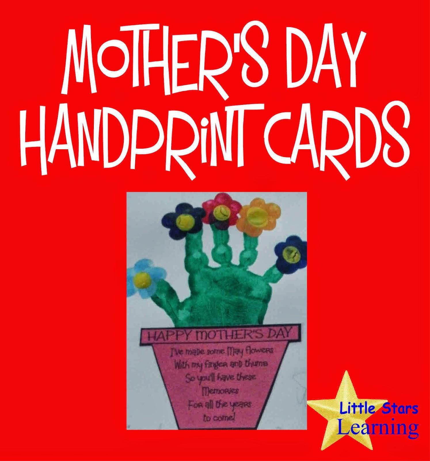 Little stars learning hand print flower bouquet with printable hand print flower bouquet with printable izmirmasajfo