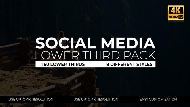 قالب افتر افكت 160 بنر تعريفي لشبكات التواصل الاجتماعي