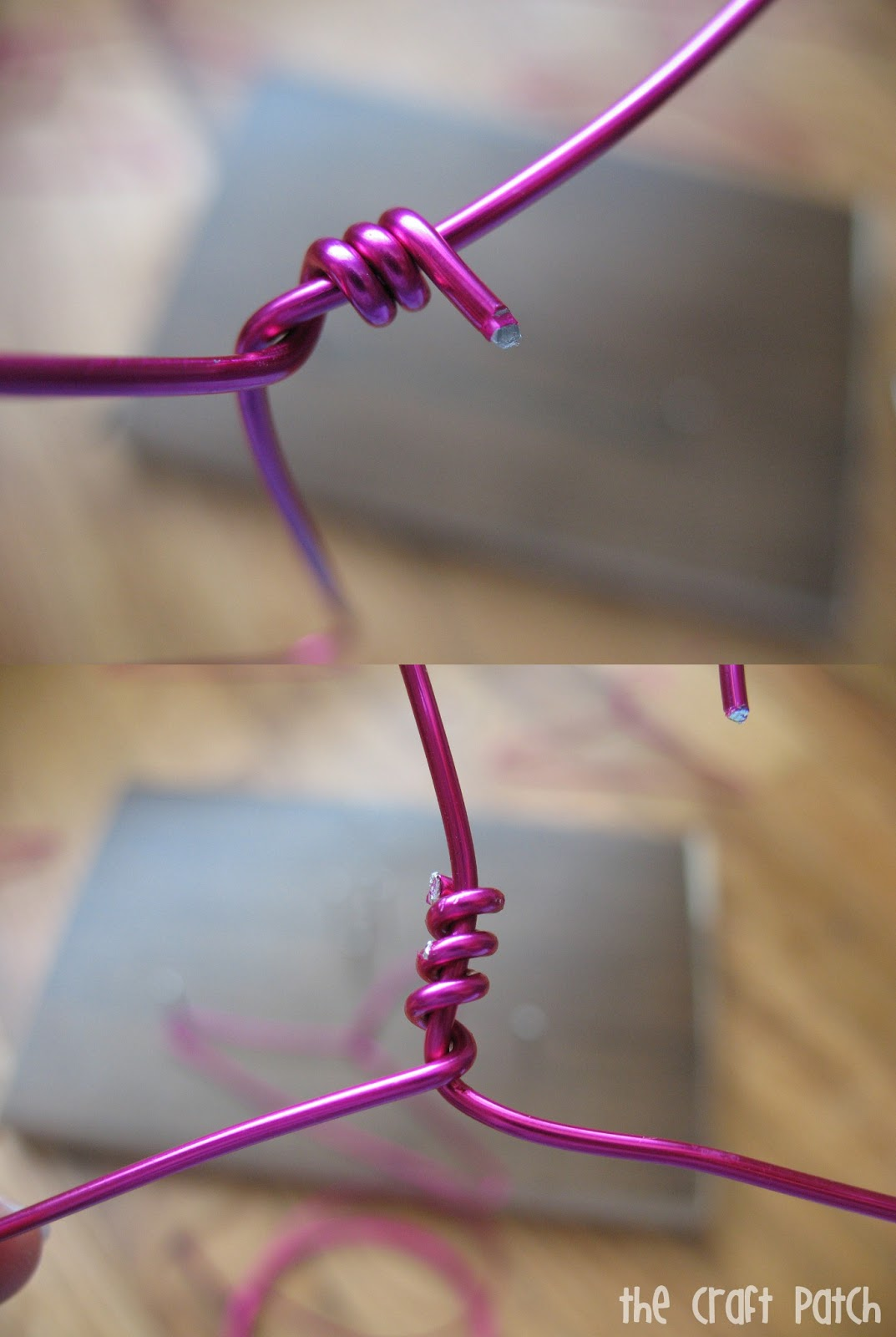 Twist The Triangle Together At Top Part Using Overlap You Left Use Needle Nosed Pliers To Make Sure End Isnt Sticking Out