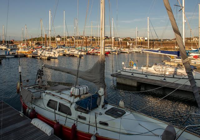 Photo of sunshine on Tuesday evening at Maryport Marina