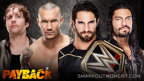 WWE Payback 2015 Fatal 4-Way World Title Match
