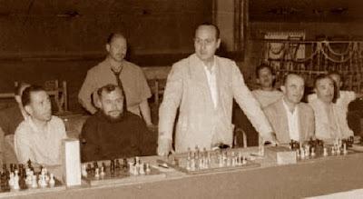 Simultáneas organizadas por el Club Ajedrecista de Arenys de Mar en 1950
