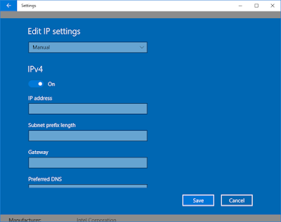 Open Network & Internet Setting Windows 10