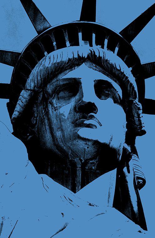 lady liberty illustration statue of liberty vector new york city por art graphic design art photoshop inkscape free estatua de la libertad nueva dibujo drawing estilo andy warhol style colors blue azul colores color